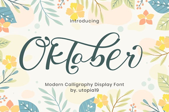 Print on Demand: Oktober Script & Handwritten Font By utopiabrand19