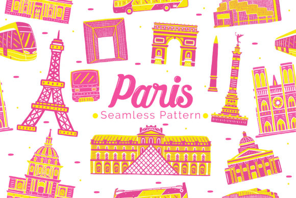 Paris Seamless Pattern Graphic Patterns By medzcreative