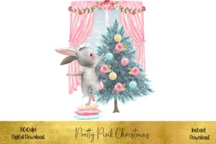 Pretty Pink Christmas Graphic Illustrations By STBB