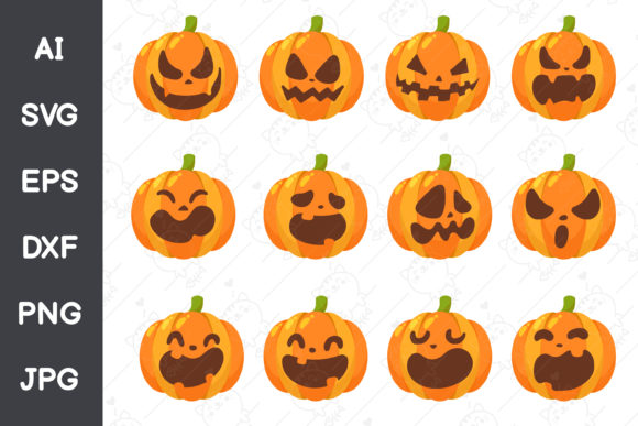 Pumpkin Halloween Collection Graphic Illustrations By CRStocker