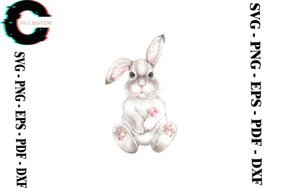 Print on Demand: Rabbit Bunny Vector Clipart Graphic Print Templates By SVG Creation