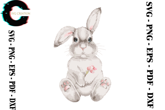 Print on Demand: Rabbit Bunny Svg Png Eps Dxf Pdf Graphic Print Templates By SVG Creation