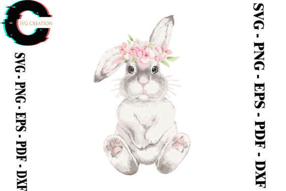 Print on Demand: Rabbit Bunny Vector Graphic Print Templates By SVG Creation