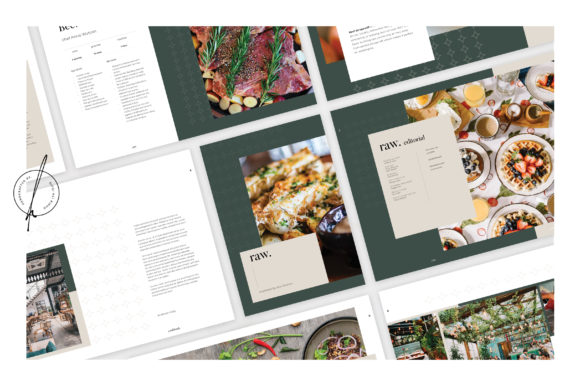 Print on Demand: Raw Cookbook Graphic Print Templates By rifqialiridho