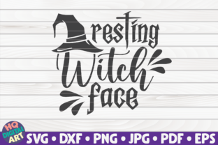 Print on Demand: Resting Witch Face SVG | Halloween Quote Graphic Crafts By mihaibadea95