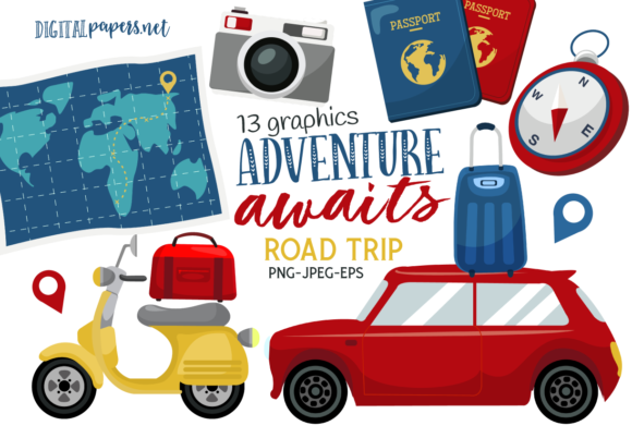 Print on Demand: Road Trip Adventure Graphic Illustrations By DigitalPapers