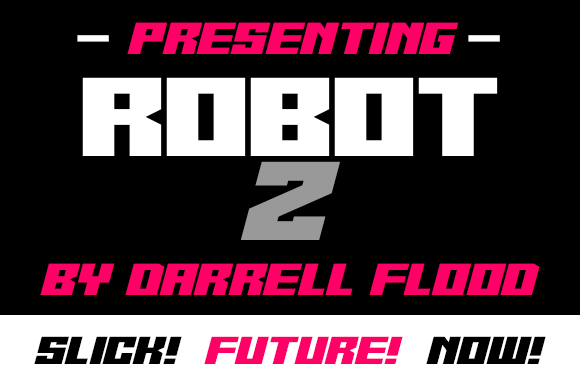 Print on Demand: Robot Z Display Font By Dadiomouse