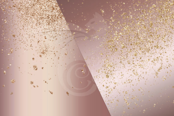 Rose and Gold Glitter Digital Paper Graphic Download