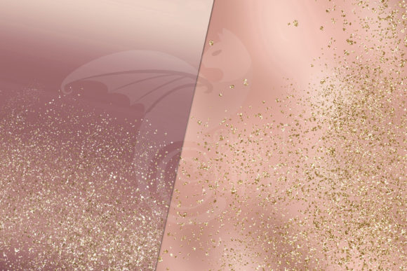 Rose and Gold Glitter Digital Paper Graphic Item