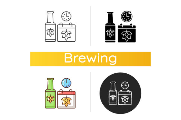 Print on Demand: Saison Beer Icon Graphic Icons By bsd studio
