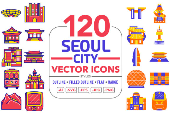 Seoul City Vector Icons Graphic Patterns By medzcreative