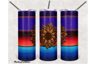 Print on Demand: Serape Skinny Tumbler Design Gráfico Crafts Por Mockup Station