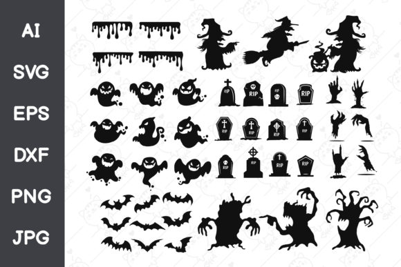 Shadow of Ghosts on Halloween Graphic Illustrations By CRStocker