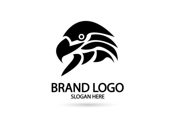 Print on Demand: Silhouette Falcon, Eagle Logo Graphic Logos By Dender Studio