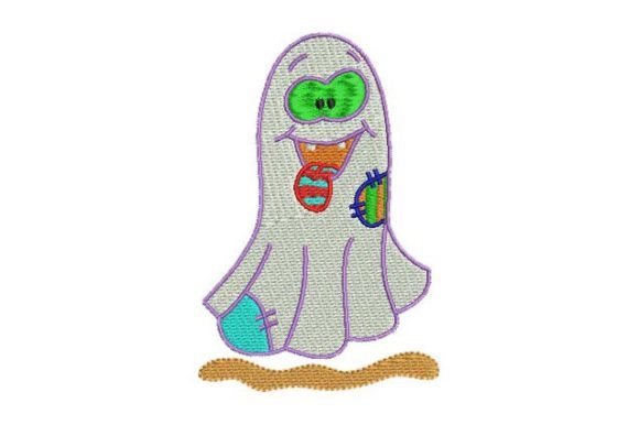 Silly Ghost Halloween Embroidery Design By BabyNucci Embroidery Designs
