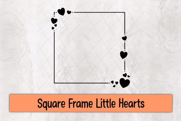 Square Frame Little Hearts Graphic Crafts By TakeNoteDesign