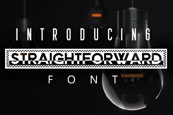 Print on Demand: Straightforward Display Font By vladimirnikolic