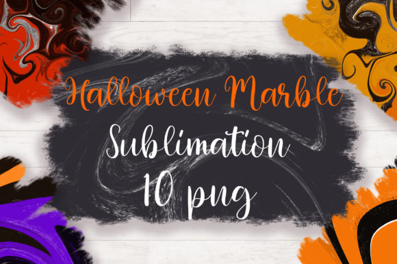 Sublimation Halloween Marble Background Graphic Backgrounds By PinkPearly