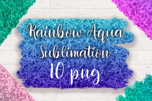 Sublimation Rainbow Aqua Background Graphic Backgrounds By PinkPearly