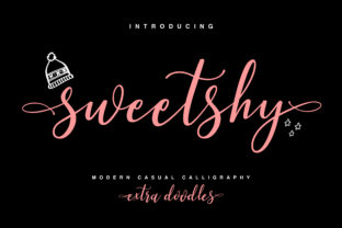 Print on Demand: Sweetshy Script & Handwritten Font By Maulana Creative