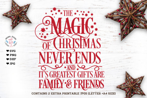 The Magic of Christmas Never Ends Graphic Illustrations By GraphicHouseDesign