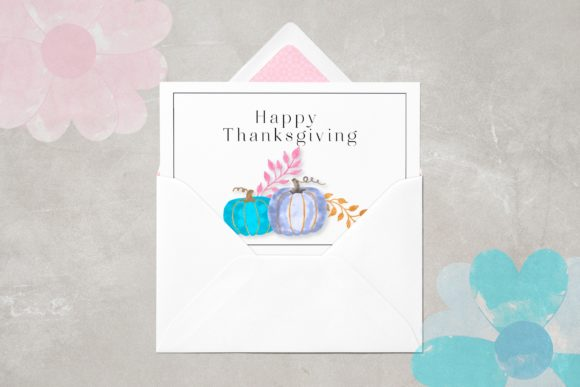 Watercolor Glam Pumpkins Clipart Set Graphic Item