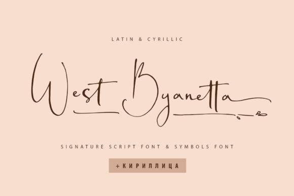 Print on Demand: West Byanetta Script & Handwritten Font By Iradvilyuk