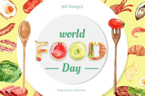 World Food Day Watercolor Set Graphic Illustrations By WatercolorEps
