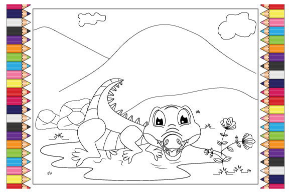 Print on Demand: Cute Animal Coloring Pages for Kids Graphic Coloring Pages & Books By curutdesign