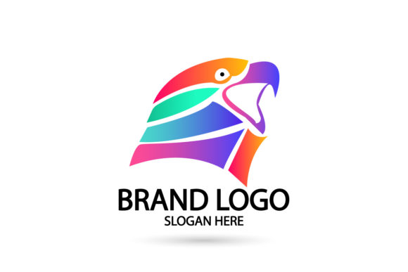 Print on Demand: Eagle Logo Icon Gradient Color Graphic Logos By Dender Studio