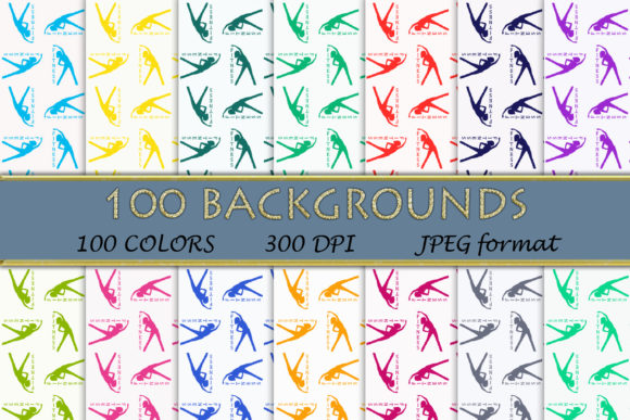 100 Fitness Digital Papers Graphic Backgrounds By SweetDesign