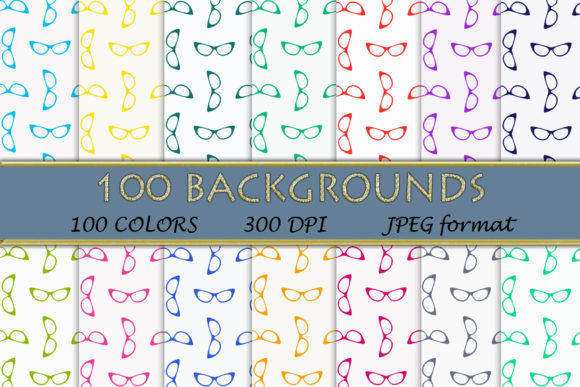 100 Glasses Digital Papers Graphic Backgrounds By SweetDesign