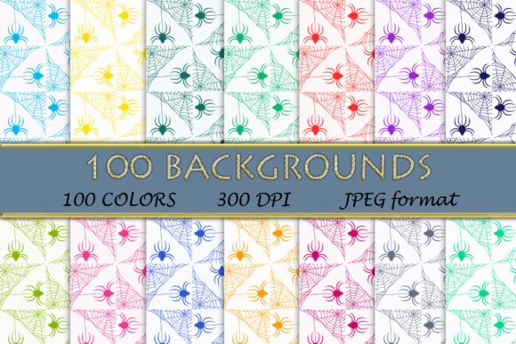 100 Spider Web Digital Papers Graphic Backgrounds By SweetDesign