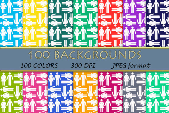 100 He and She Pattern Digital Papers Graphic Backgrounds By SweetDesign