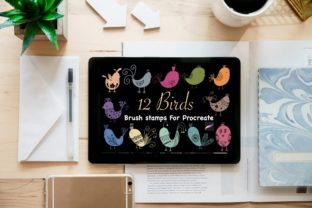 12 Birds Brush Stamps for Procreate Graphic Brushes By Temtemdesign
