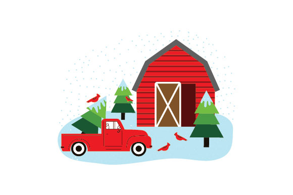 Christmas Farm Scene Christmas Craft Cut File By Creative Fabrica Crafts
