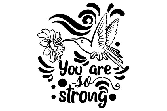 You Are so Strong Awareness Craft Cut File By Creative Fabrica Crafts