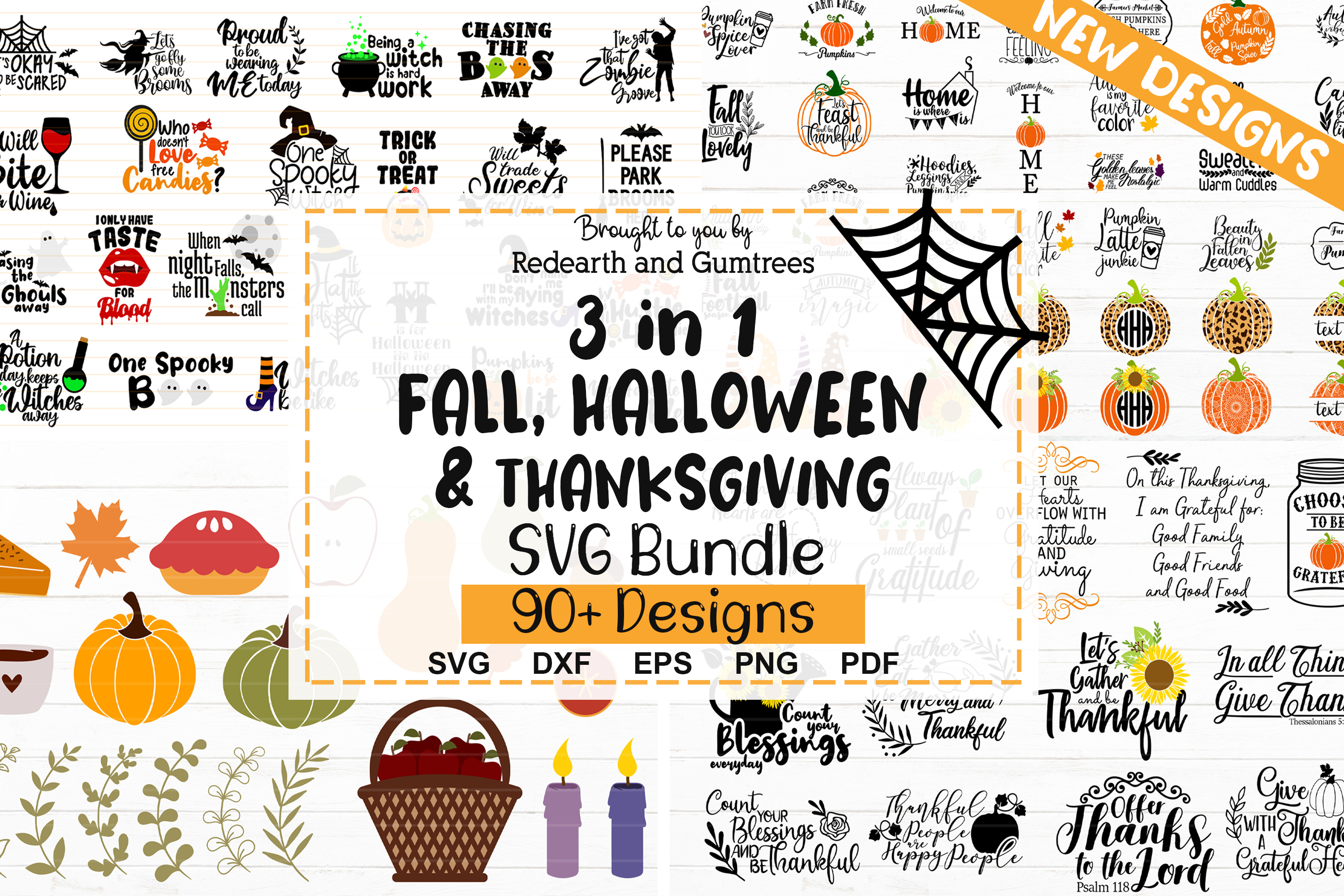 3 in 1 Fall,Halloween & Thanksgiving SVG File