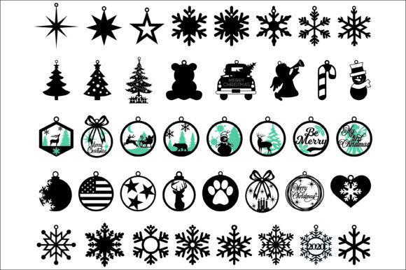 40 Christmas Tree Toys SVG, DXF, EPS,PNG Graphic Product Mockups By Fast Store
