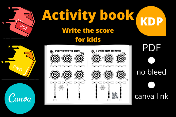 Print on Demand: Activity Book for Kids Write the Score Graphic KDP Interiors By Dunkyshot