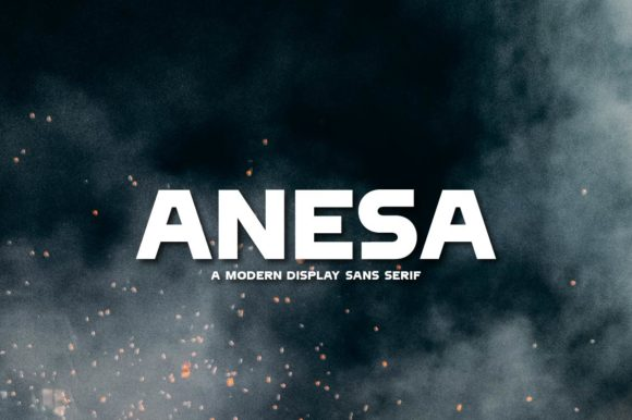 Print on Demand: Anesa Display Schriftarten von Olexstudio