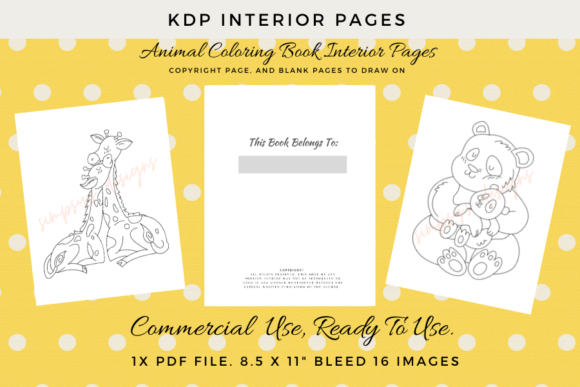Print on Demand: Animals & Their Babies Coloring Pages Graphic KDP Interiors By Simpsys Designs