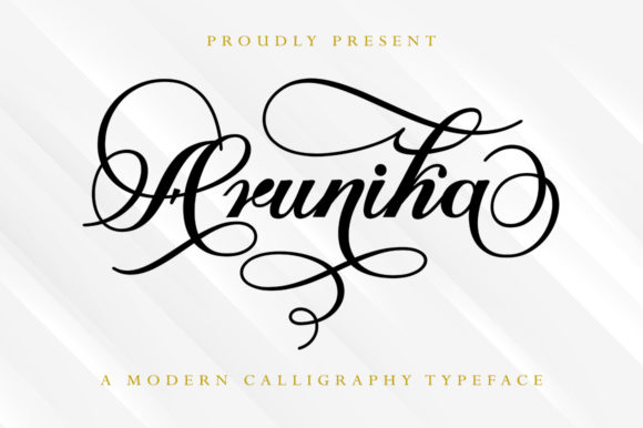 Print on Demand: Arunika Script & Handwritten Font By Skinny type