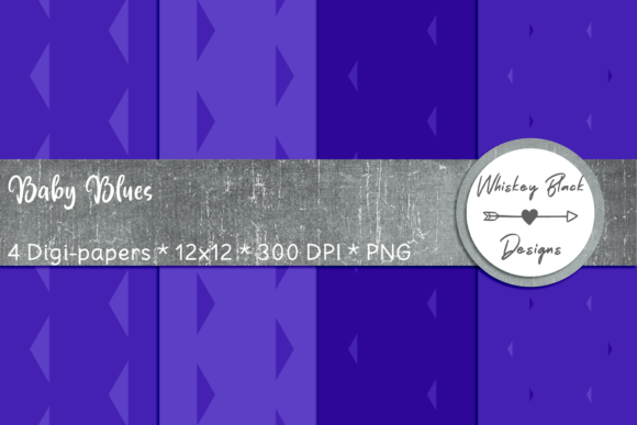 Print on Demand: Baby Blues Triangle Papers Graphic Patterns By Whiskey Black Designs