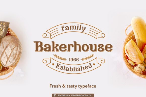 Print on Demand: Bakerhouse Display Schriftarten von dsfractal