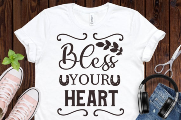 Bless Your Heart Svg, Southern Svg, Graphic Illustrations By BiBi Shop