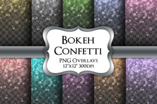 Print on Demand: Bokeh Confetti Overlays Transparent PNG Graphic Illustrations By Party Pixelz