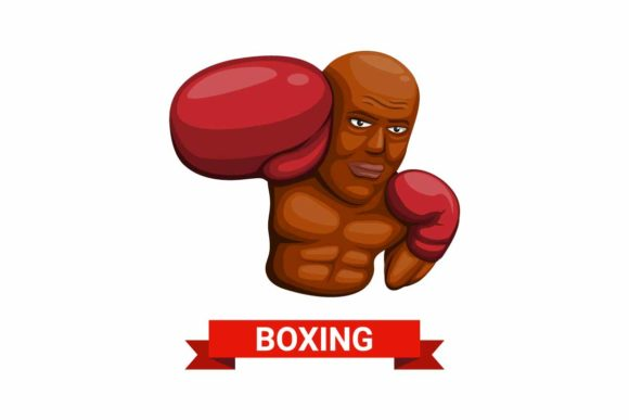 Print on Demand: Boxing Man Symbol Character Concept Icon Graphic Illustrations By aryo.hadi