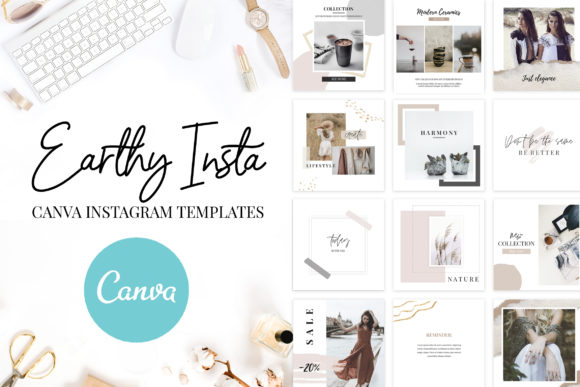Canva Instagram Templates Earthy Graphic Graphic Templates By switzershop