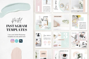 Canva Instagram Templates Pastel Graphic Graphic Templates By switzershop 1